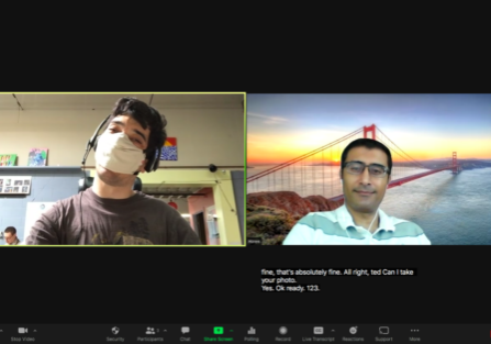 Photo of Hiren and Ted on zoom